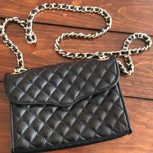 Rebecca Minkoff black cushion cross-stitch purse